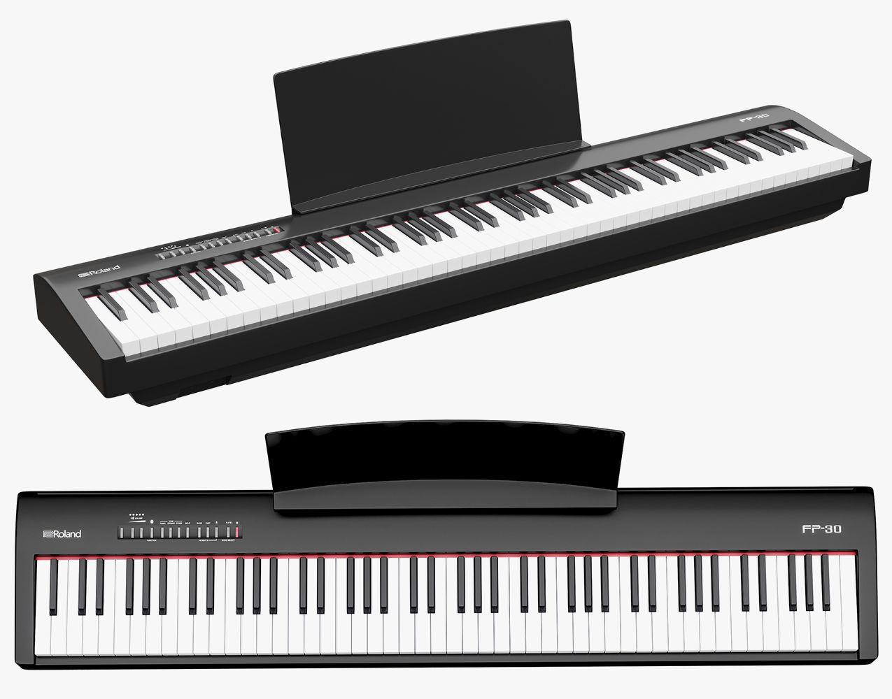 Roland Fp 30 88 Key Digital Piano Rock Solid Music